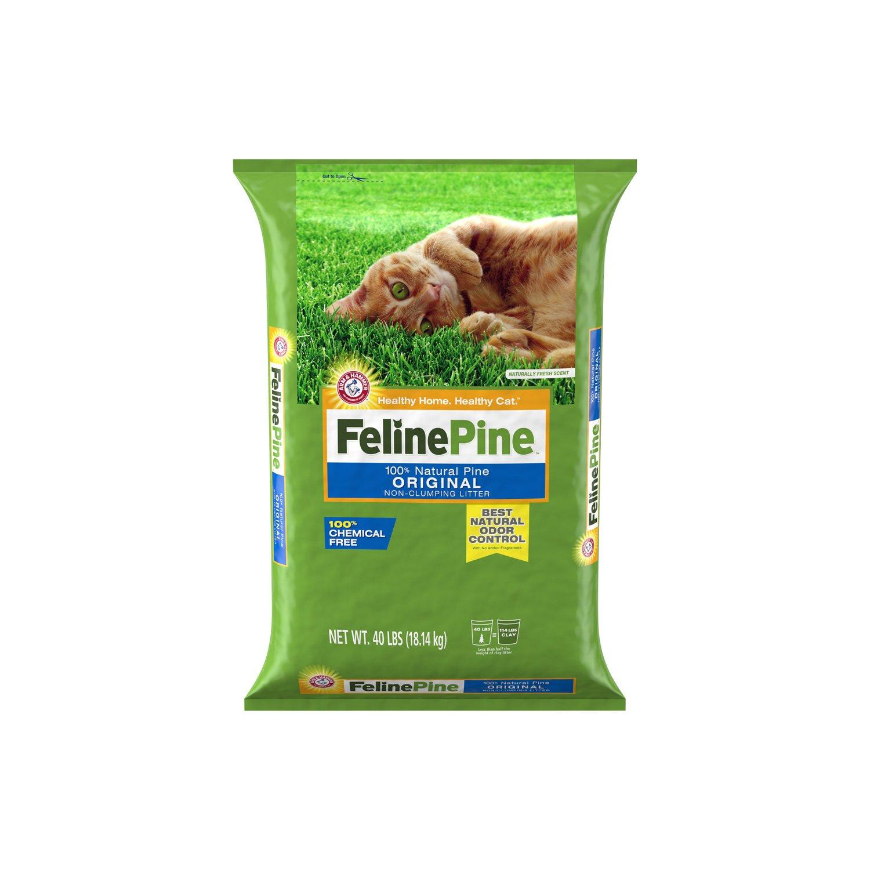 Feline Pine Cat Litter 40 Lbs Pine Cat Litter Best Cat Litter Cat Litter Brands