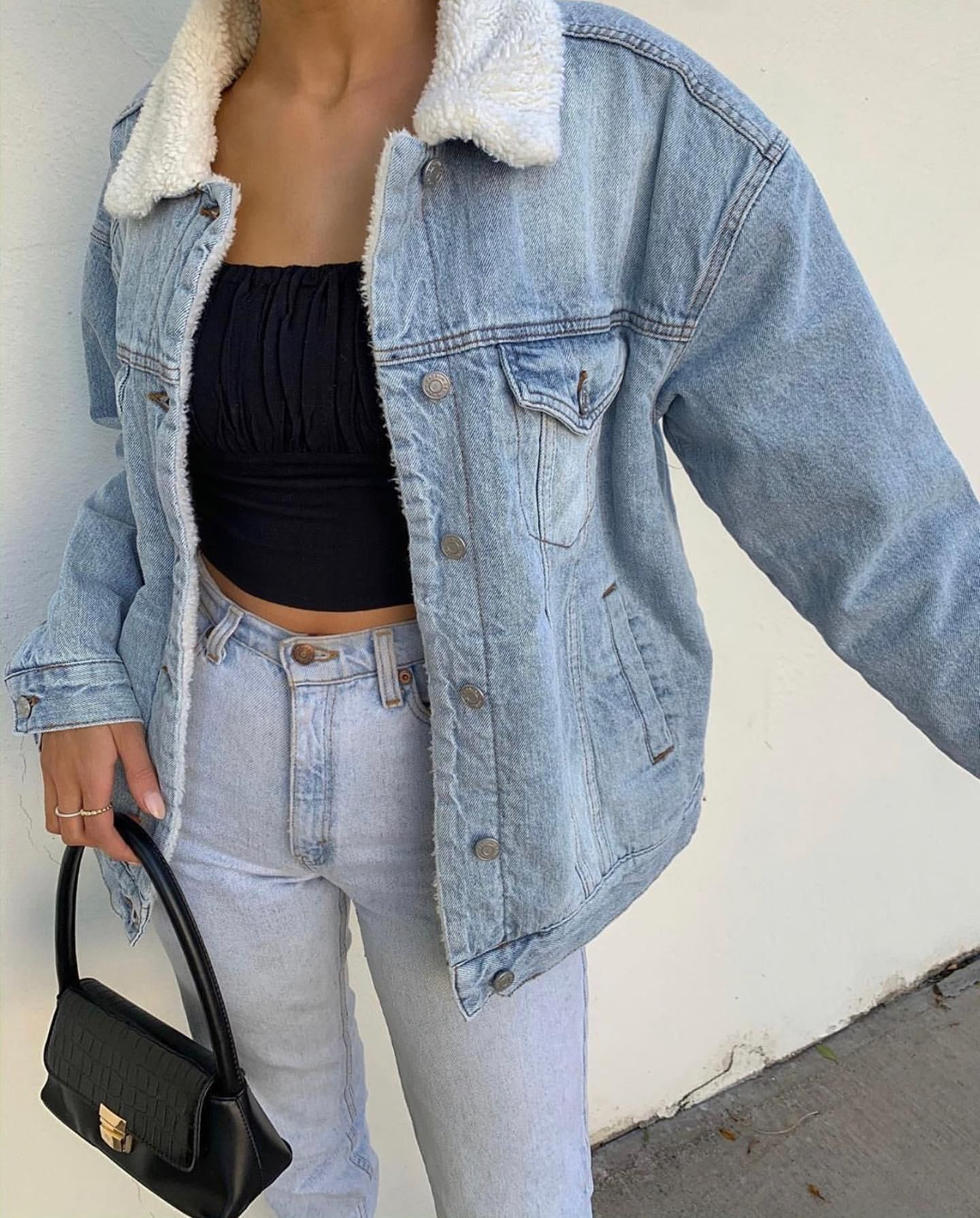 Get The Jacket For 65 At Pacsun Com Wheretoget Jacket Outfit Women Denim Jacket With Fur Denim Jacket Outfit [ 1790 x 1440 Pixel ]