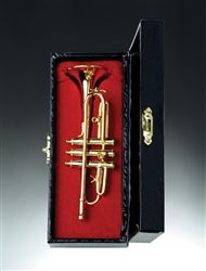 Dollhouse Miniature Trumpet with Case