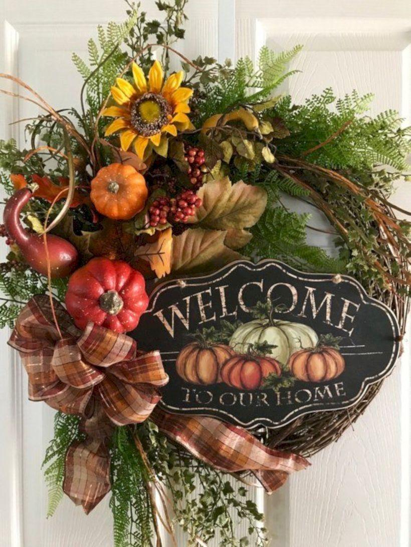 33 Creative Pumpkin Wreath Harvest Ideas for Autumn ...