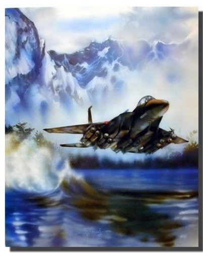 Fighter Jet F 15 Eagle Flying Aviation Aircraft Wall Decor Art Print 16x20 Aircraft Wall Decor Aircraft Painting Fighter Jets