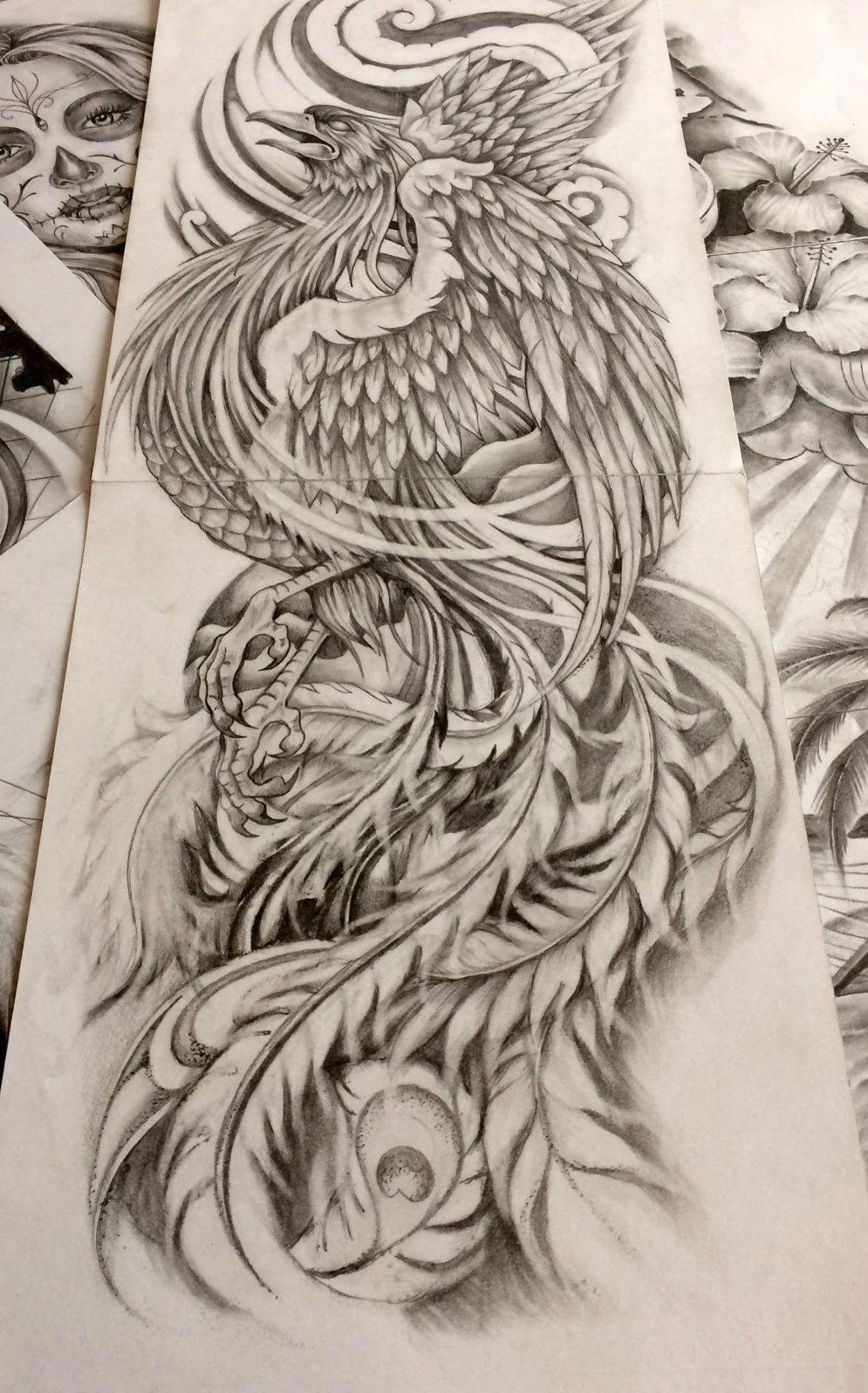 Phượng Hoang Japanesetattoos Japanese Tattoo Tattoo Design Drawings Phoenix Tattoo