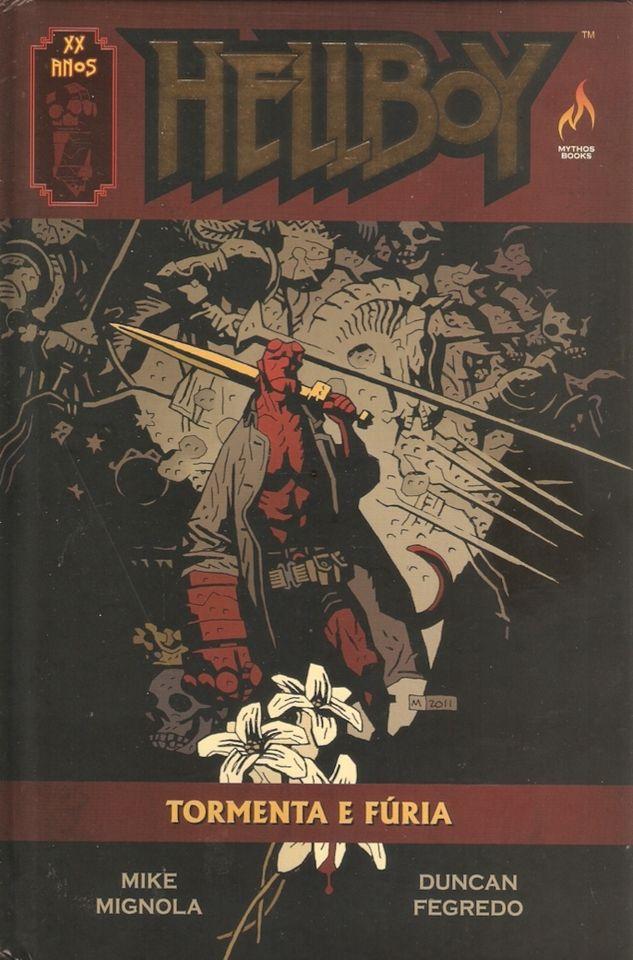 Hellboy - Tormenta e Fúria - editora Mythos, Brasil