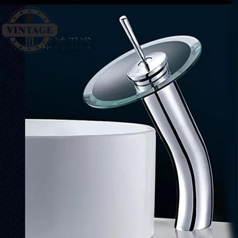 modern basin faucet glass faucet for bathroom mixer faucets water ...