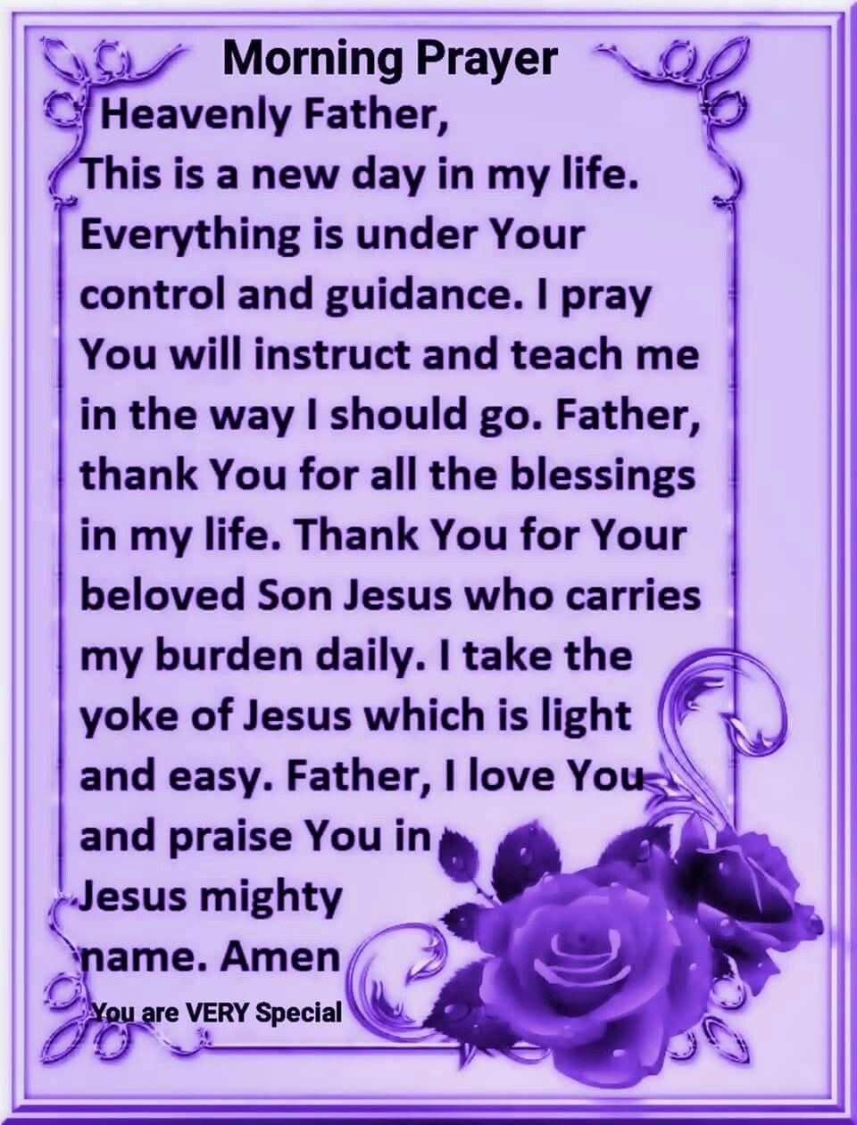 Morning Prayer Spiritual Warfare Morning Prayers Prayers