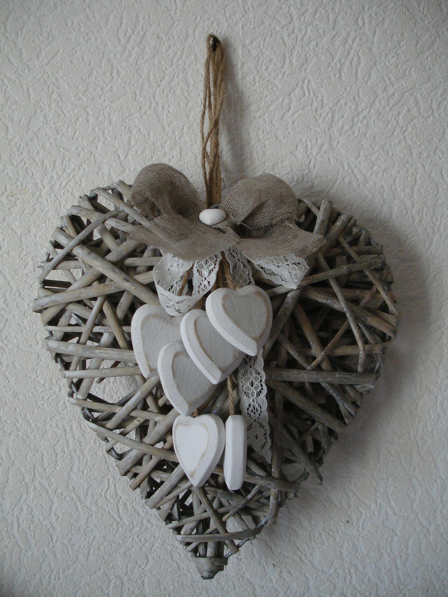 Tr s joli coeur en rotin petits objets d co diy for Petit objet deco