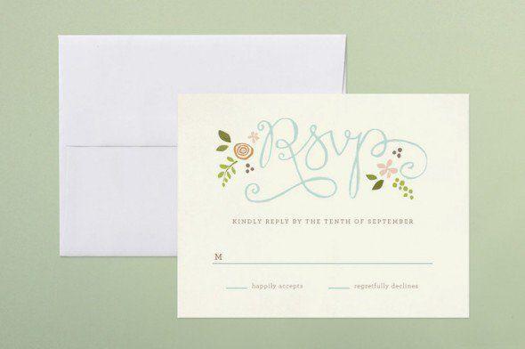 rsvp card wedding wording