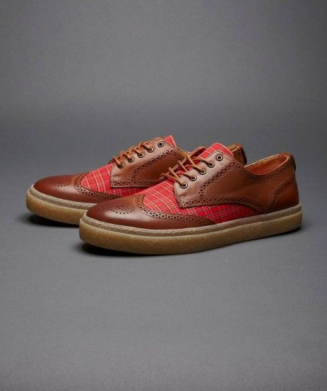 c1fd4051d92 Fred Perry - Davies Leather   Tartan Shoe