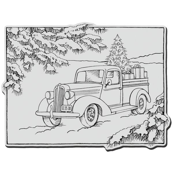 Christmas Car Coloring Page
