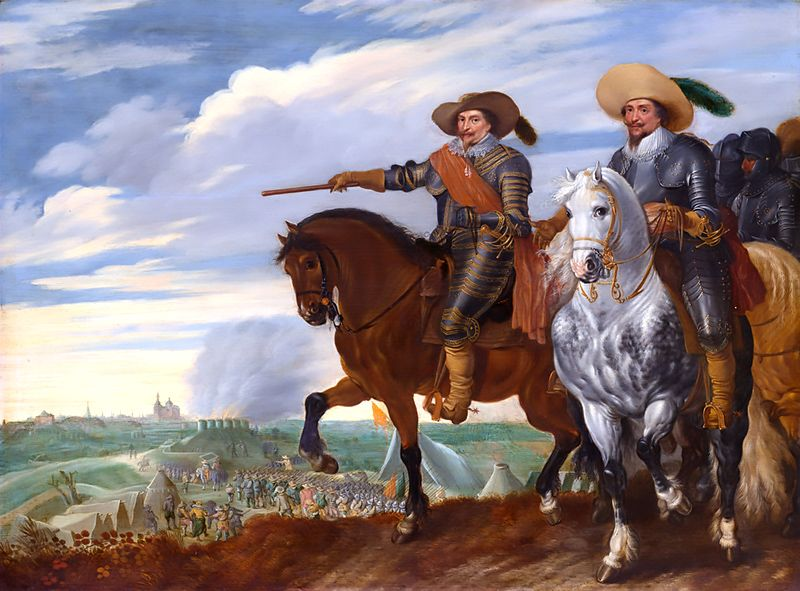 Frederick Henry and Ernst Casimir at the siege of 's-Hertogenbosch (Eighty Years' War 1568–1648)