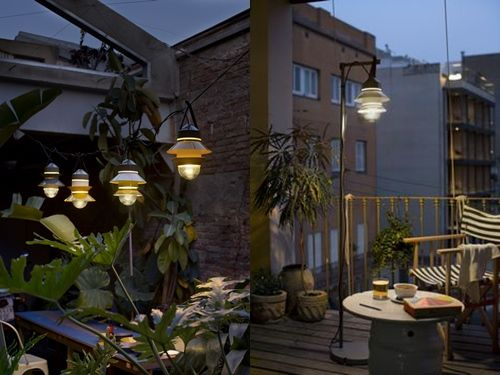 lamparas para terrazas modernas el jard n pinterest On lamparas colgantes para terrazas
