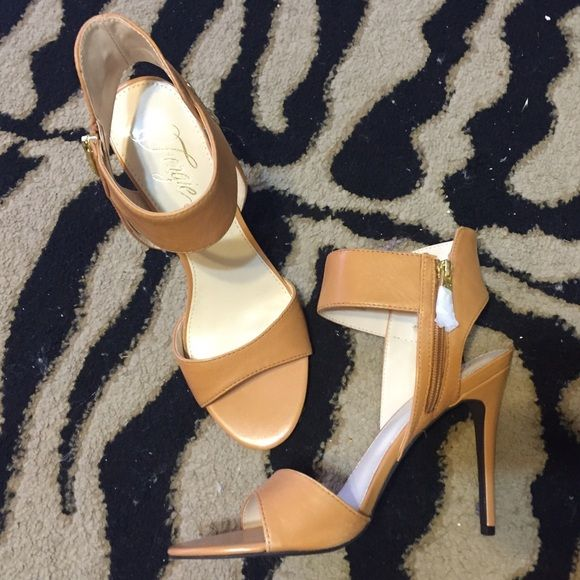 FERGIE Stilettos FERGIE Stilettos Size: 10 Color: Camel  Brand new, never used.  No box or tags but still has the wrapping around the zippers. Fergie Shoes