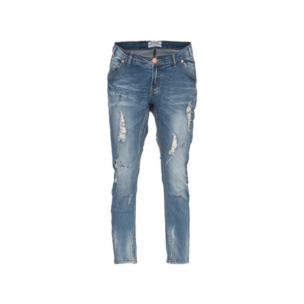 One Teaspoon Goodies Blu Blonde Skinny-baggy jeans in ankle length (€159) ❤ liked on Polyvore featuring jeans, ankle length jeans, skinny leg jeans, super skinny jeans, ankle length skinny jeans and skinny jeans