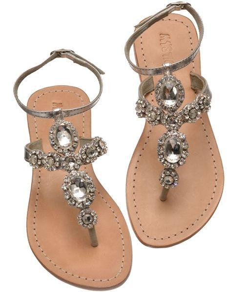 Jeweled sandals, Wedding shoes