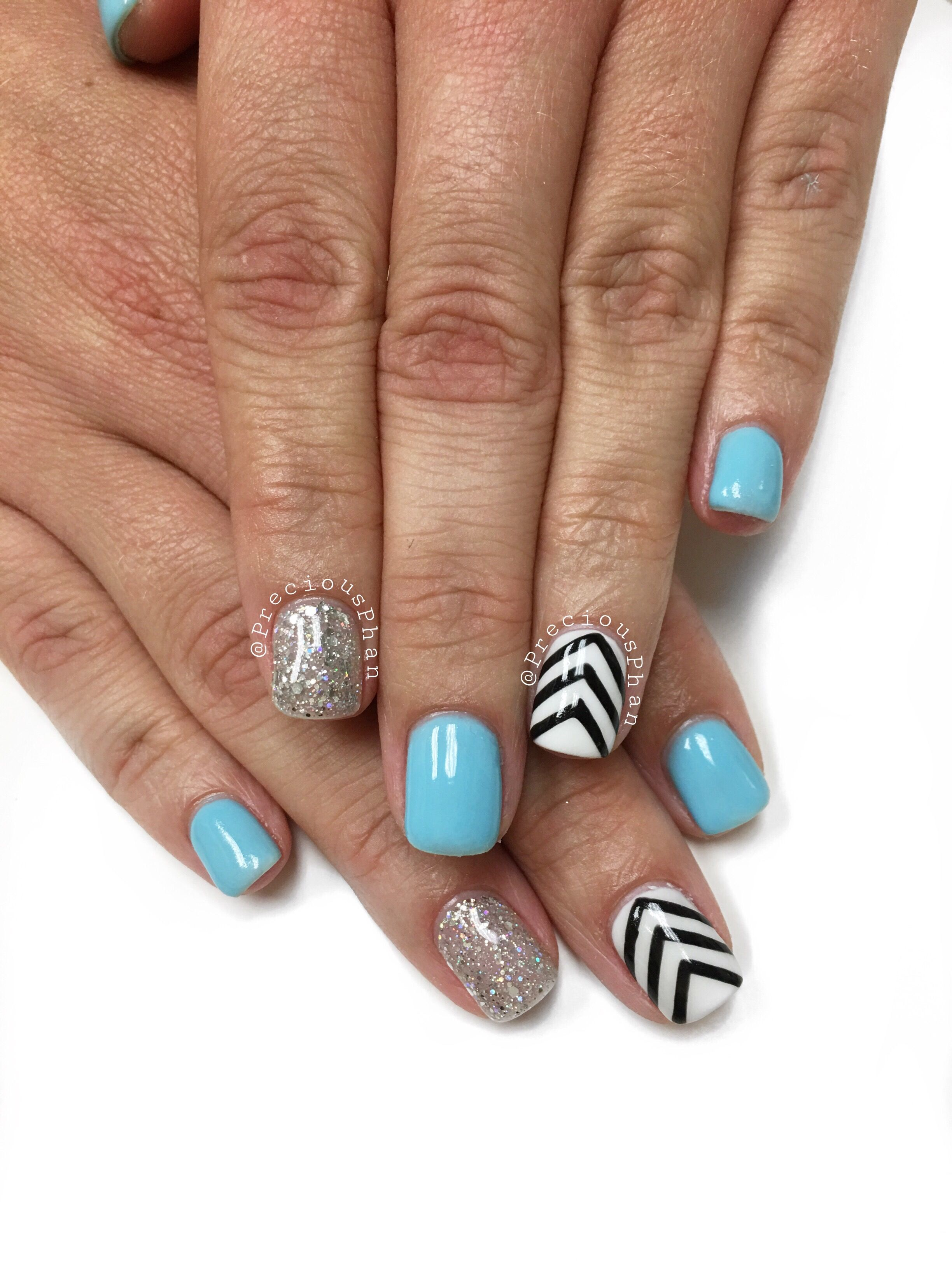 Mint nails with chevron design. #PreciousPhanNails | Precious Phan ...
