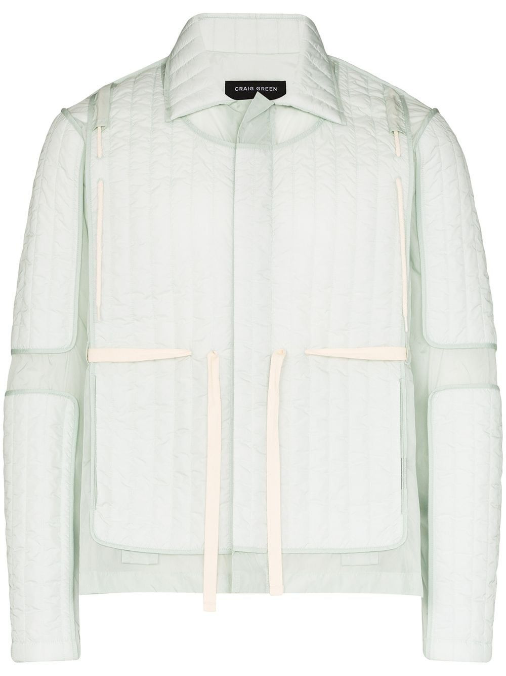 Craig Green Quilted Panelled Jacket Farfetch In 2020 Panel Jacket Craig Green Green Quilt