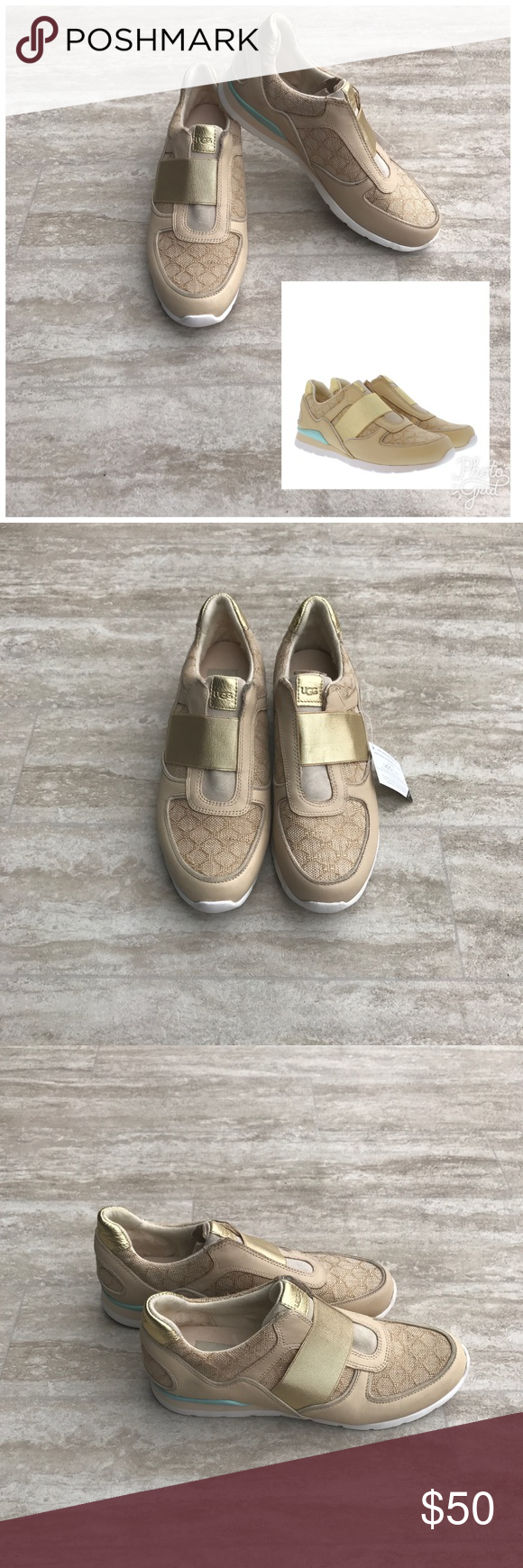 fc7f81ca1c3 Ugg Annetta Gold Slip On Shoes Sz 7 New with defects, had scuffing ...