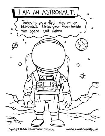 i am an astronaut space science drawing activity for kids science printables pinterest. Black Bedroom Furniture Sets. Home Design Ideas