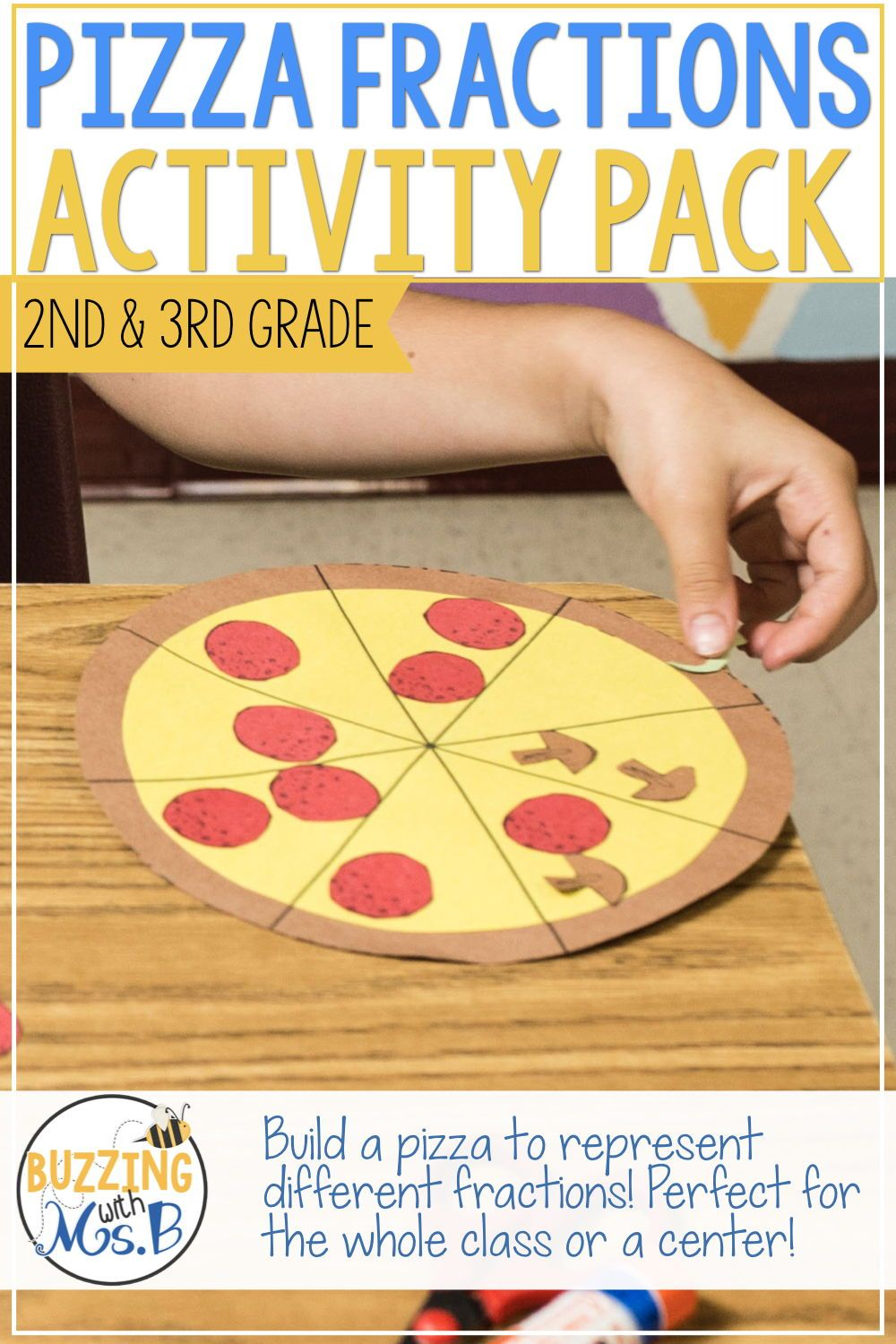 Pizza Fractions Craftivity And Activities Fractions Craftivity Pizza Fractions Fraction Activities [ 1500 x 1000 Pixel ]