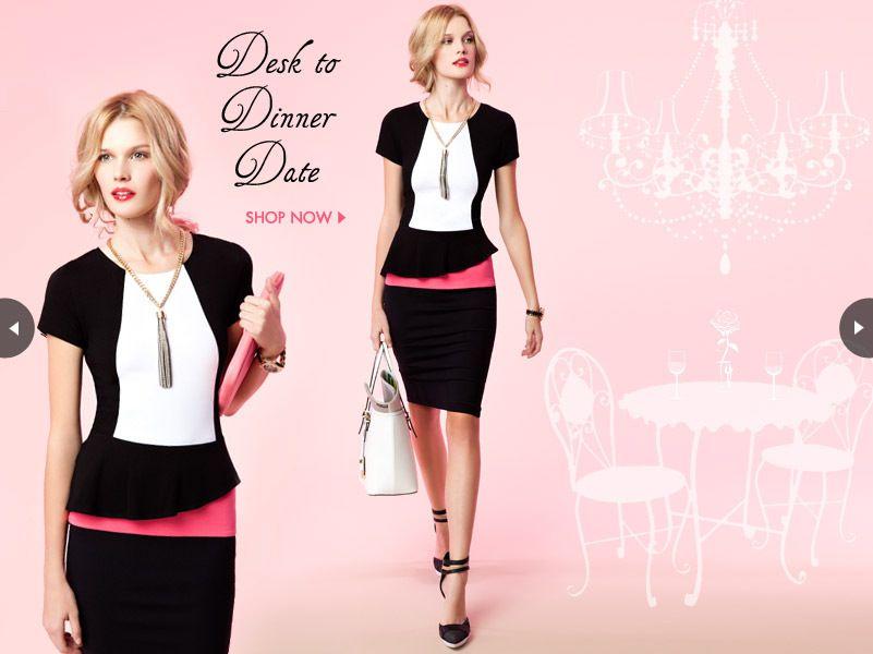 bebe   Desk to Dinner Date - love this dress!!