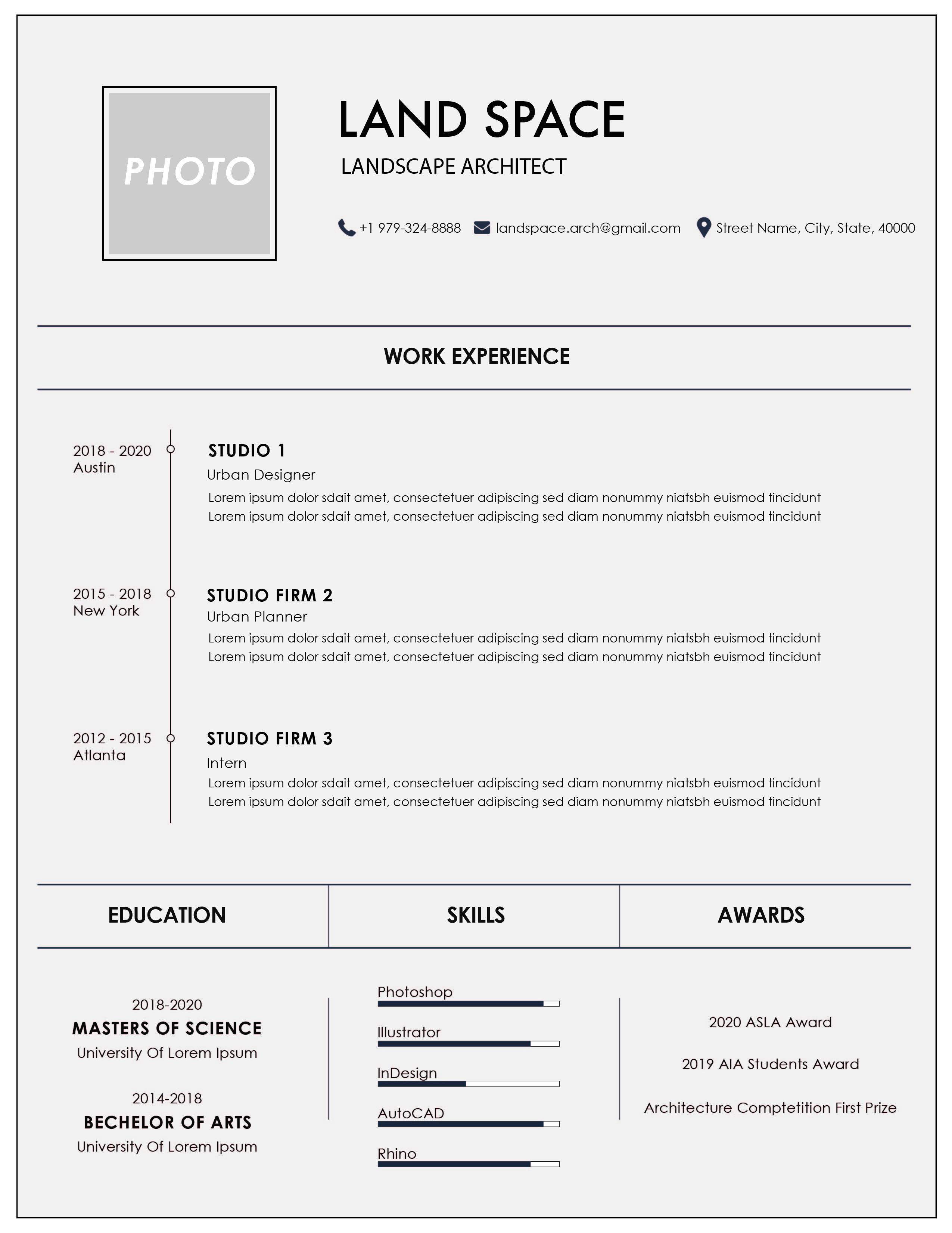 solution architect resume template