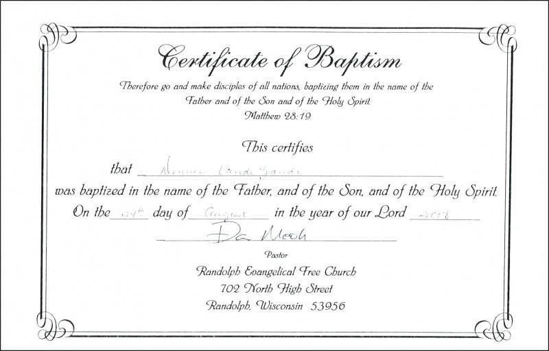 Certificate Of Baptism Printable Certificate Certificate Templates Printable Certificates Free Printable Certificate Templates