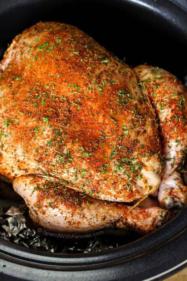 Slow Cooker Whole Chicken  Gravy A Complete Sunday Meal -8727