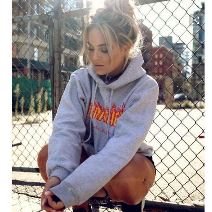 Men Women sportswear Thrasher hoodie flame skateboard dead fly west hip-hop  harajuku hooded fleece Thrasher THRASHER from Summer11. Saved to Things I. 6475ae6da
