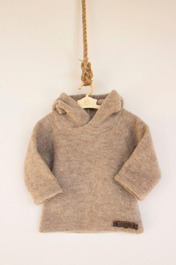 56145fc188b6 Merino wool jumper  Baby woolen jumper  Timberman s hoody 601FW15 ...