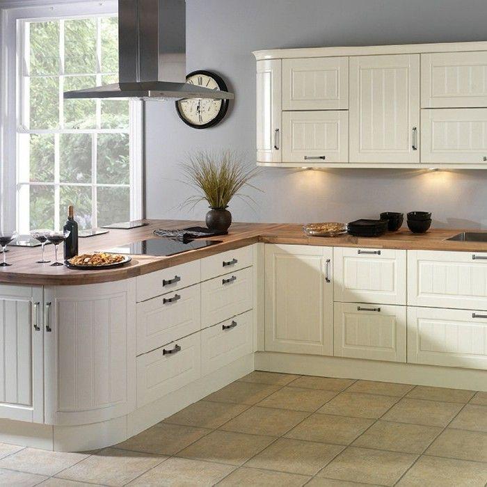 Küche Streichen Ideen | Kuche Streichen Ideen Creme Einrichtung Bodenfliesen Hellgraue Wande
