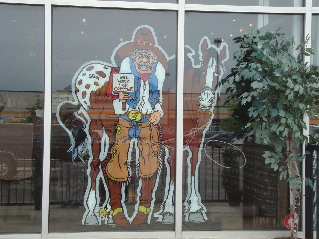 Stampede Window Painting No Limit Artistic Design