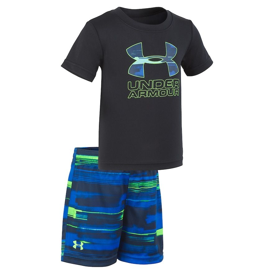 c9b34c9f1f Toddler Boy Under Armour Logo Graphic Tee & Abstract Shorts Set in ...