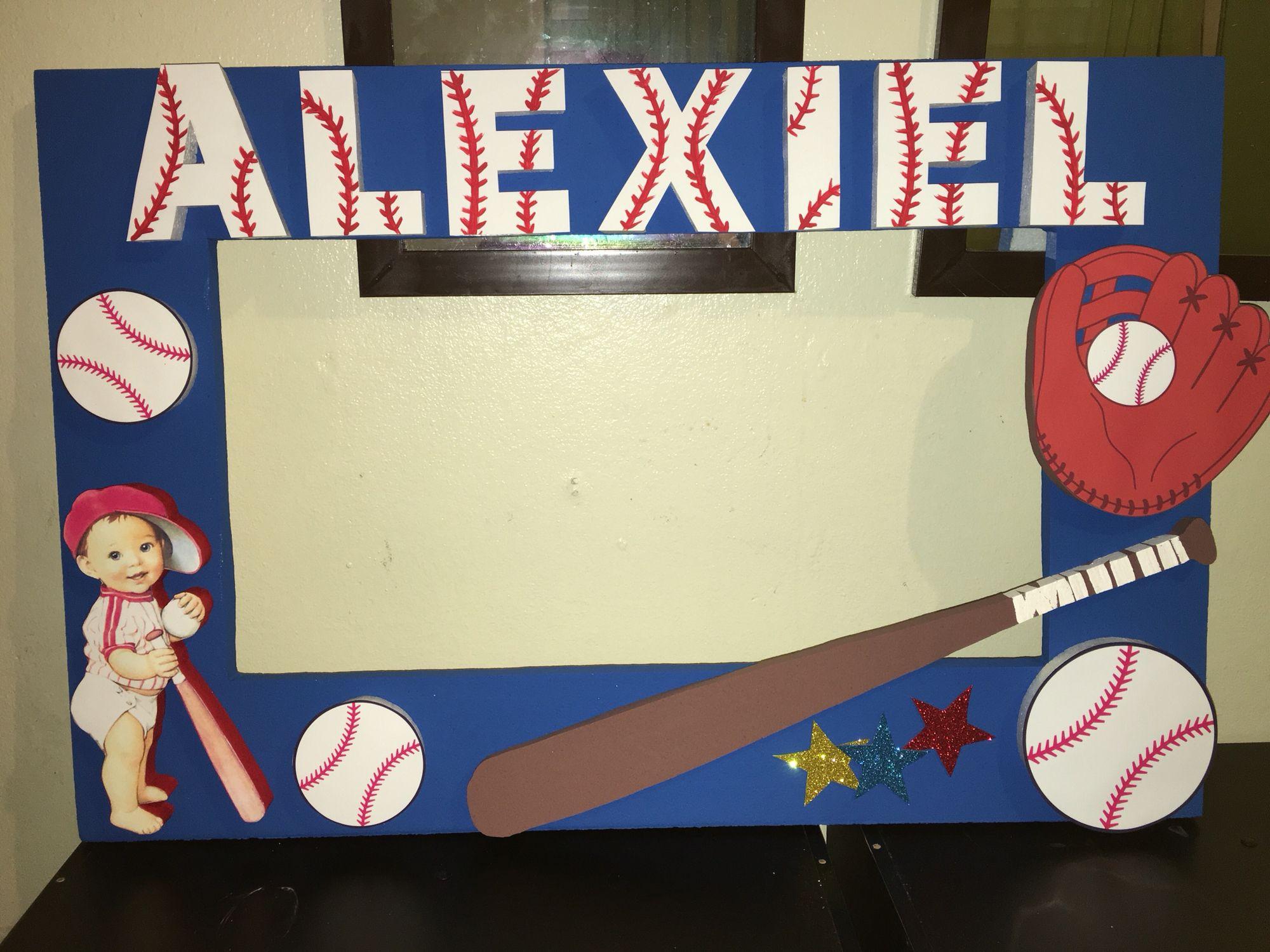 Baseball photobooth frame Deportes Pinterest