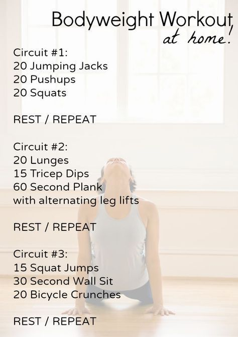 Beginner Bodyweight Workout At Home No Equipment Needed Clear A Space In Your Living Room And Get Full Body All You Need Is Yourself