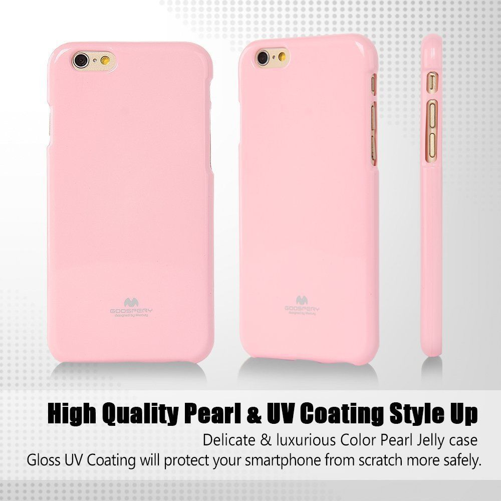 Iphone 6 6s Plus Genuine Mercury Goospery Soft Jelly Metallic Pink 8 Fancy Diary Case Yellow Hotpink For Cover
