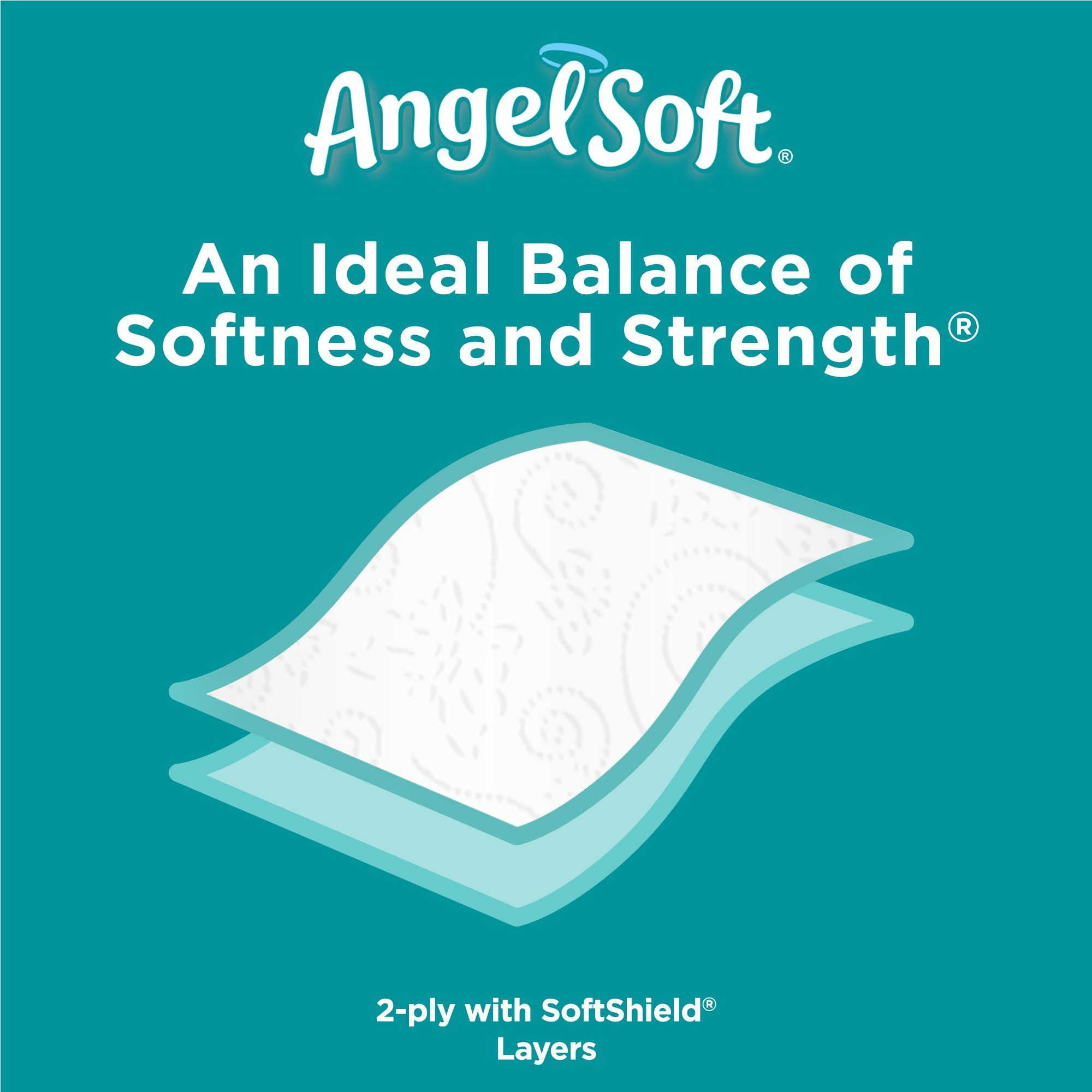 Angel soft 2 ply toilet paper 48 double bath tissue pack