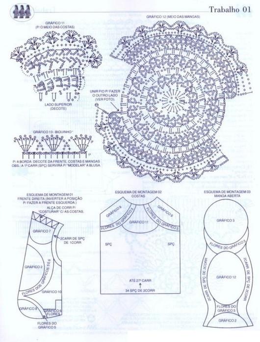 Bolero Chaqueta con Lazo Cinta Patron - Patrones Crochet | Chalecos ...