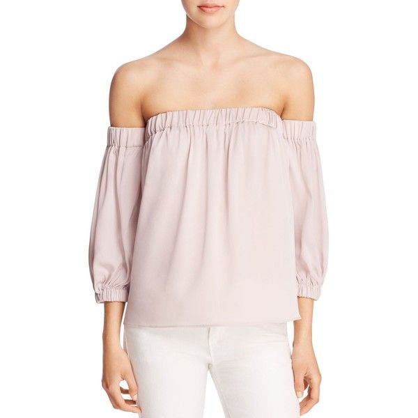 3e833b8afa4 Milly Stretch Silk Off-The-Shoulder Blouse (6