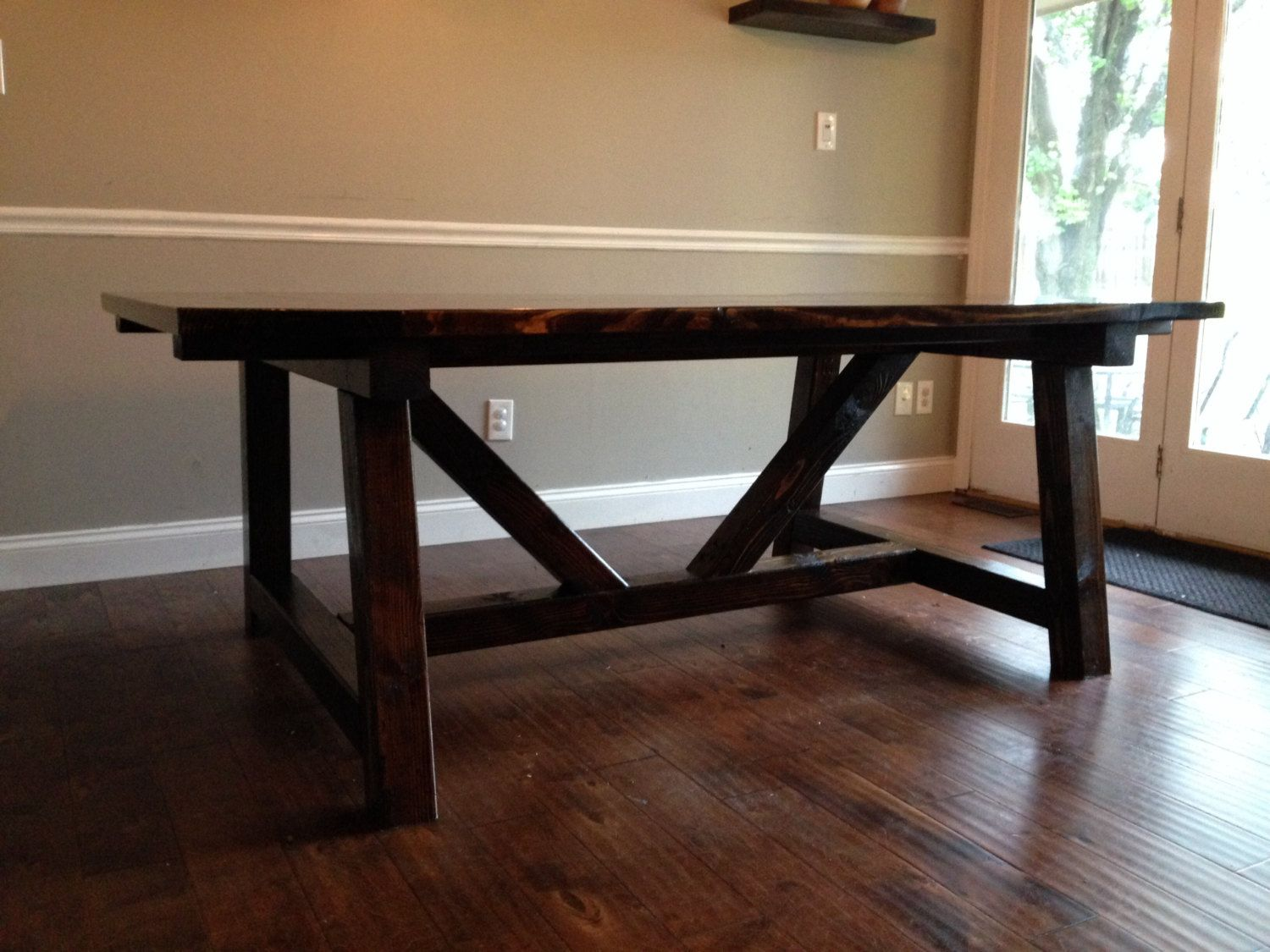 Custom Handmade Farmhouse Table By HJCCustomDesigns On Etsy, $1,800.00