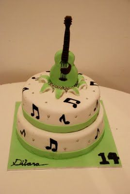 Guitar Music Themed Cake