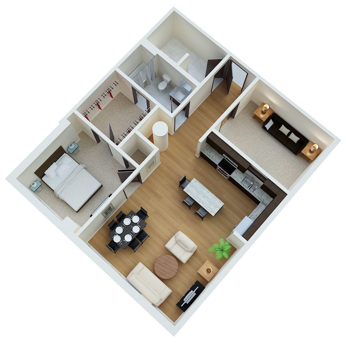 Dillinger 1 Bedroom Den Building Furniture 3 Bedroom Floor Plan Floor Plans