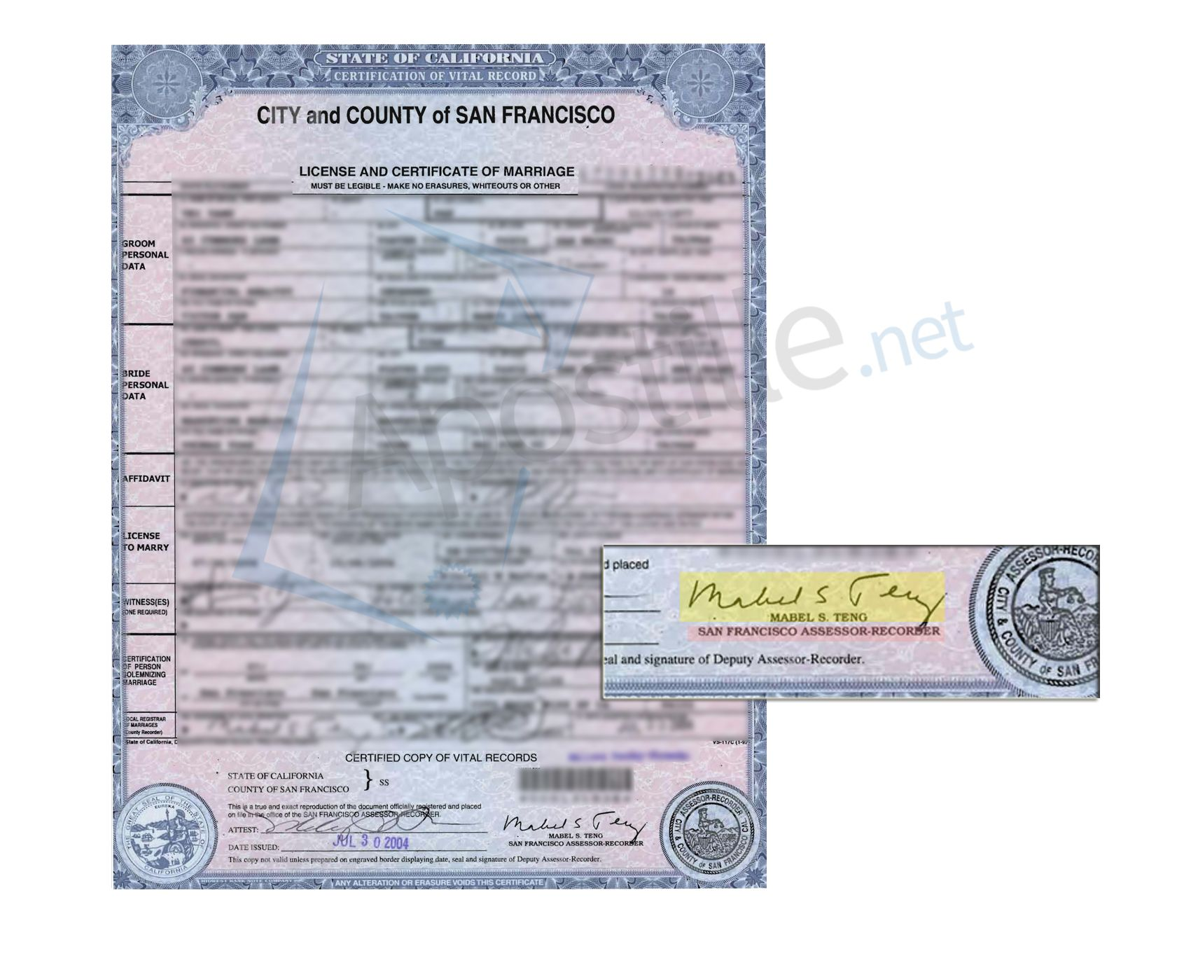 County of orange license and certificate of marriage signed by tom county of orange license and certificate of marriage signed by tom daly state of california sample apostille pinterest xflitez Images