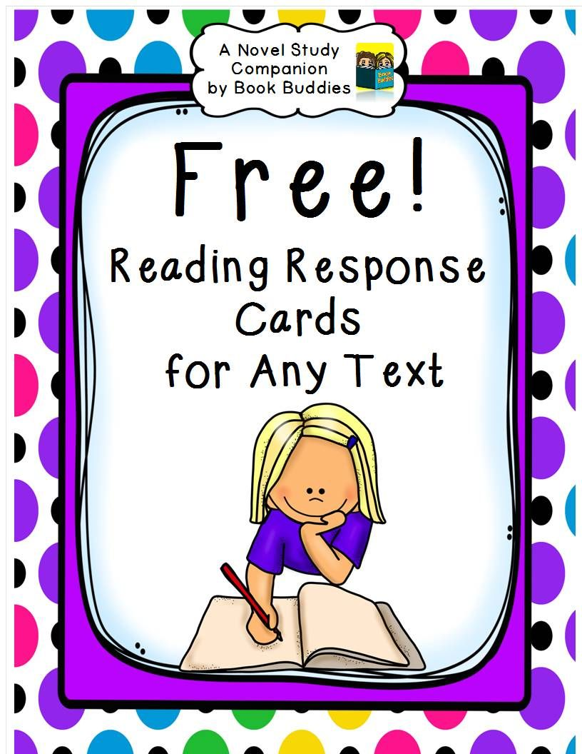FREE! easy prep reading response cards for any fiction or nonfiction ...