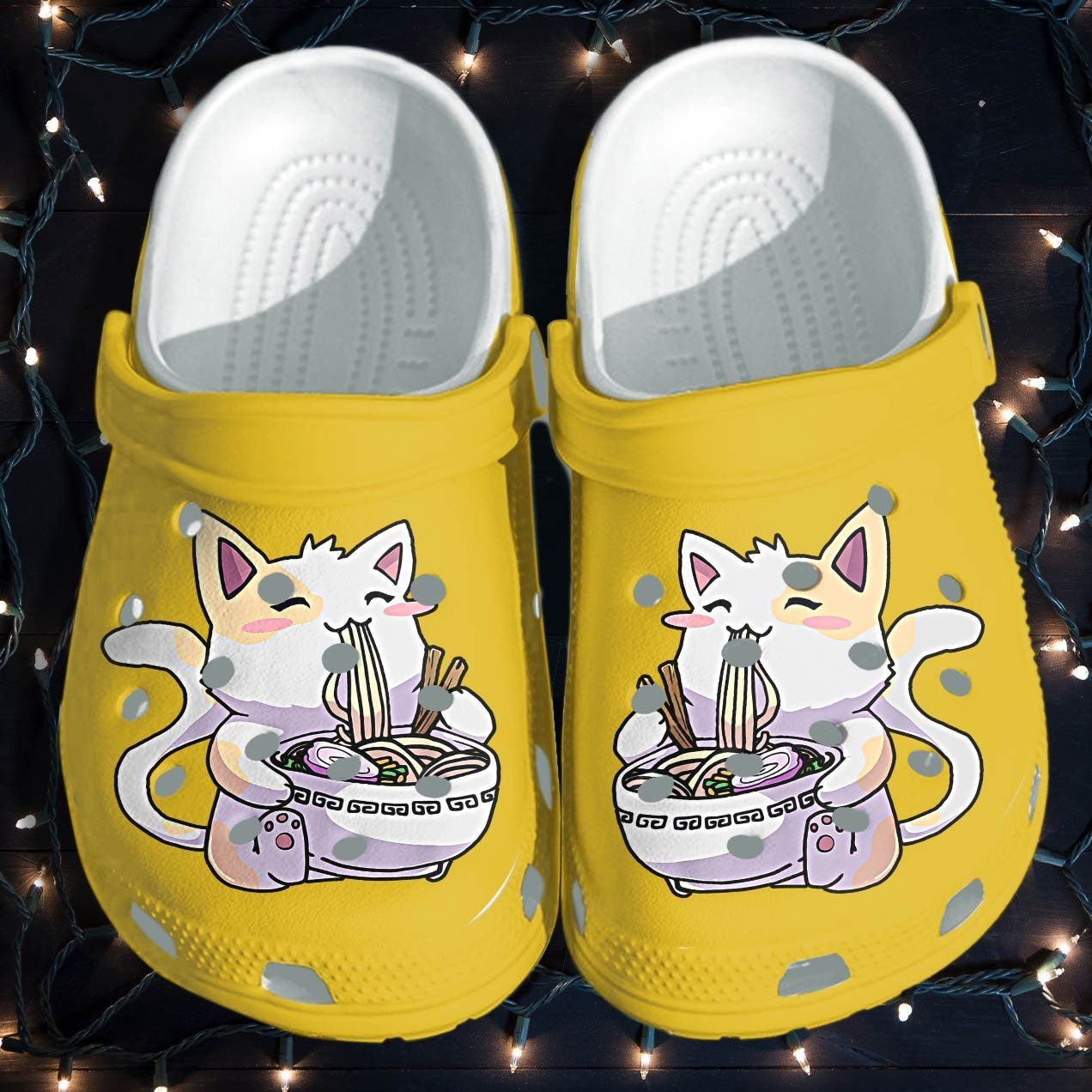 Photo of Anime Cat Cute Shoes Croc Funny – Manga Cat Noodle Japan Shoes Gifts For Girl Women