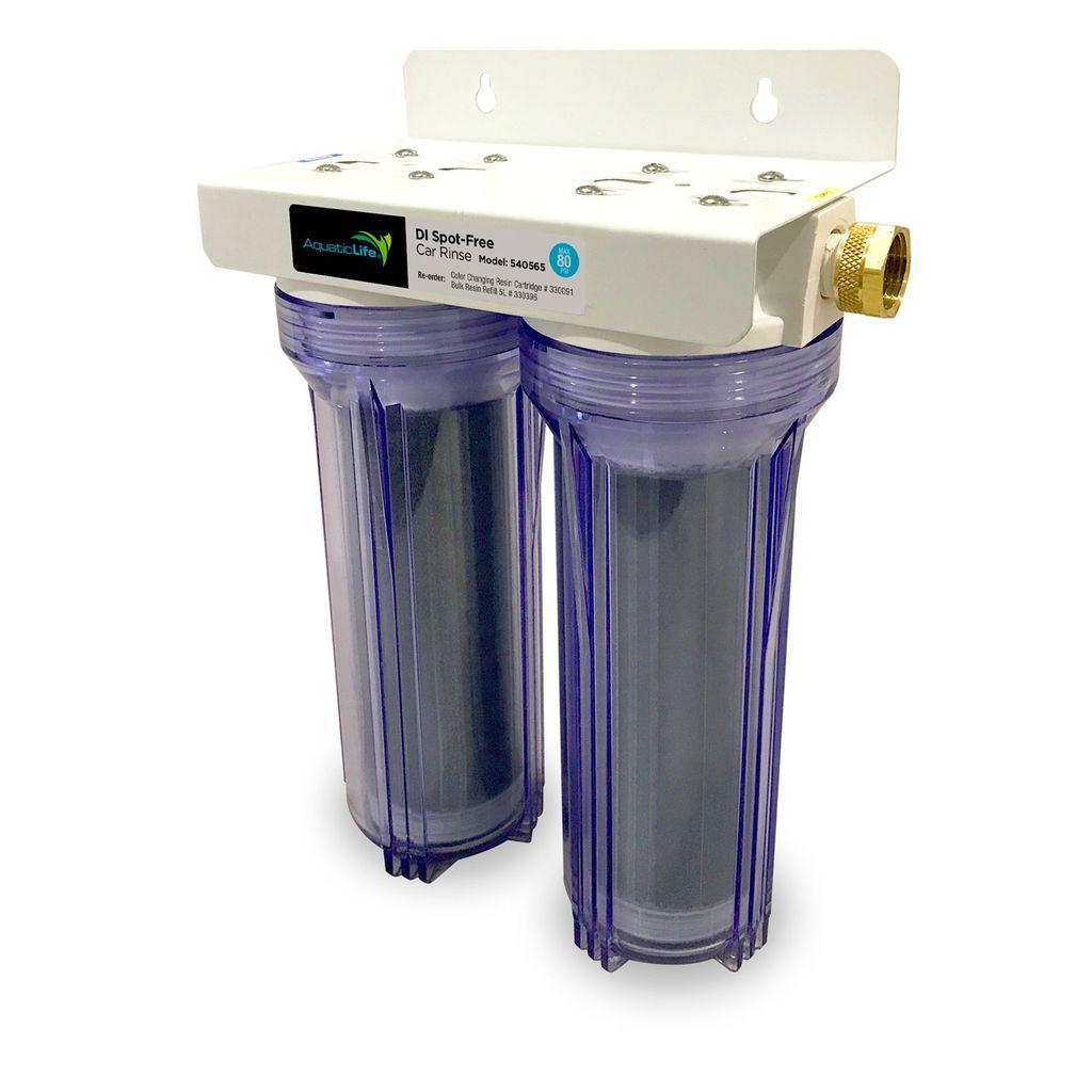 Deionized spotfree car rinse unit premium water