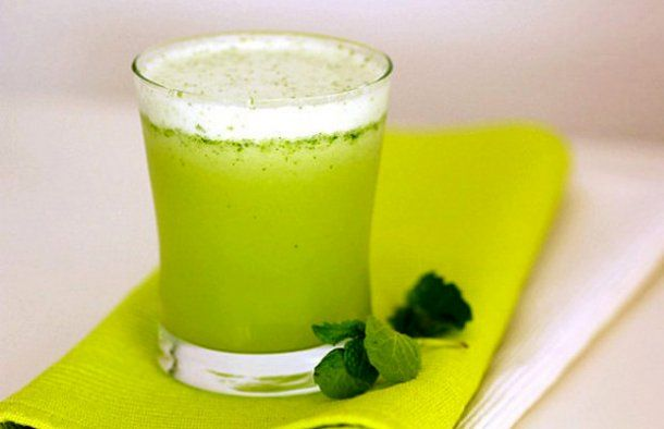 Portuguese Pineapple Juice with Mint Drink #mintdrink