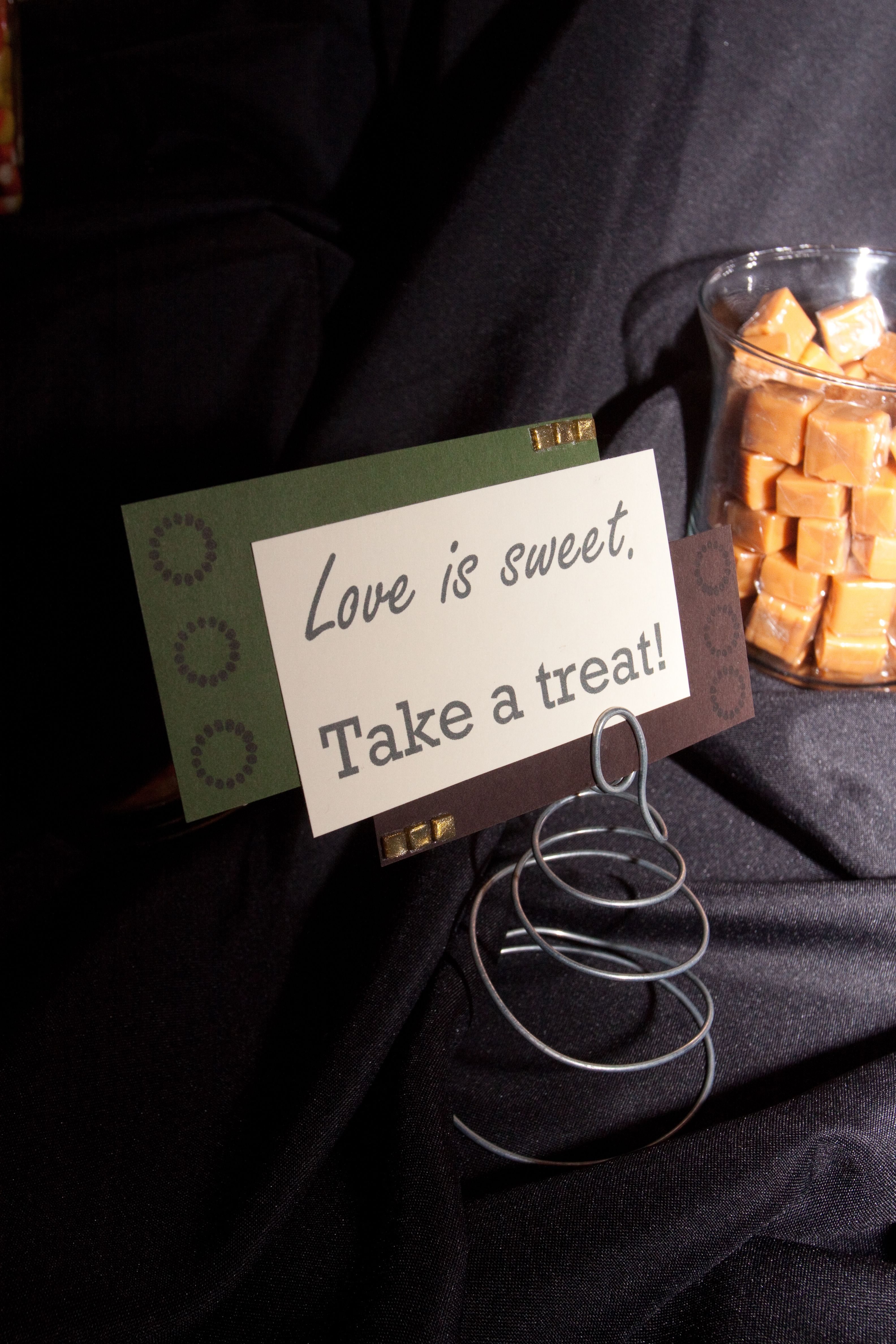 Candy bar sign for wedding reception (With images