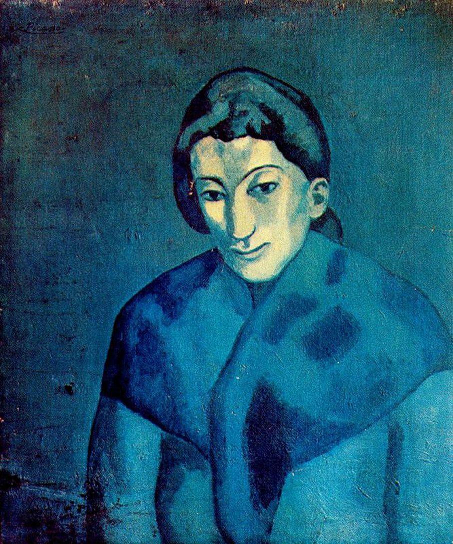 Woman in a shawl - Pablo Picasso, 1902 | Picasso caras de mujer ...