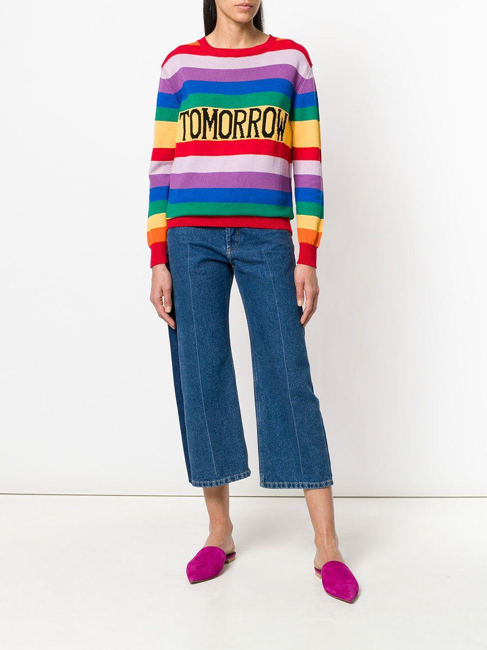 check-out a8f94 e05a3 Alberta Ferretti Tomorrow rainbow sweater | estivo | Rainbow ...