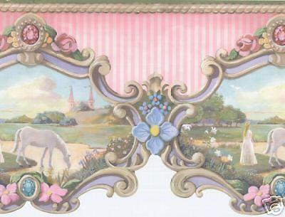 YORK Wallpaper Border Carousel Horse CWJV6216B picclick